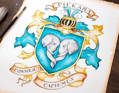 Piekara Family Crest