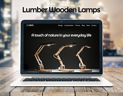 Lumber Wooden Lamps Landing Page
