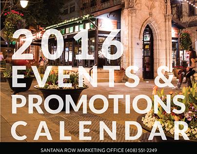 Santana Row 2016 Marketing Calendar
