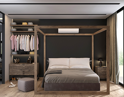 Bedroom & Kitchen - Vray