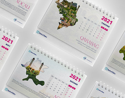 Calendar 2021 - for Bank of Baku