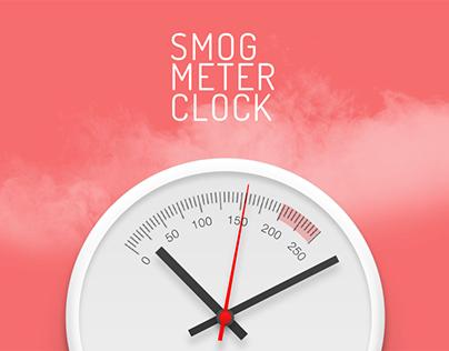 Smog meter clock