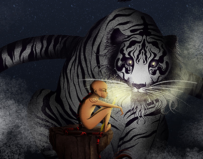 The boy, the tiger and the light.