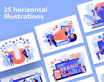 Marketing UI illustrations