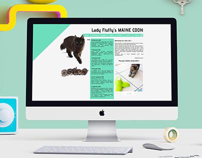 Lady Fluffy, webdesign