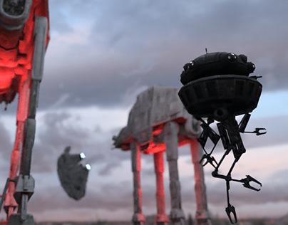 Star wars battle scene demo