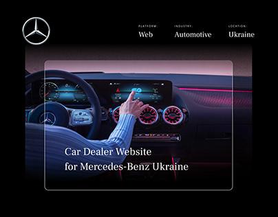 Car Dealer Website for Mercedes-Benz Ukraine
