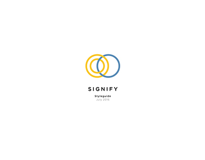 Signify Styleguide