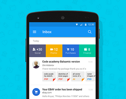 Mail.ru Design Concept for Dribbble Competition
