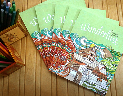 Wanderlust: A coloring Journal with Yali Books publish
