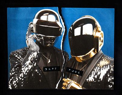 Daft Punk Break Up - Collage