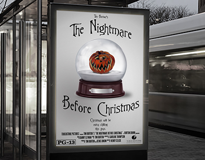 """The Nightmare Before Christmas"" Reimagined Poster"