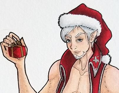 Christmas Art Challenge 2018: 25 Santa