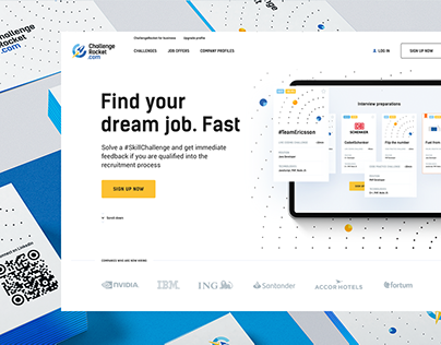 Challenge Rocket rebranding & web design