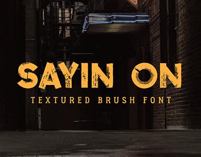 Sayin On – Textured Font
