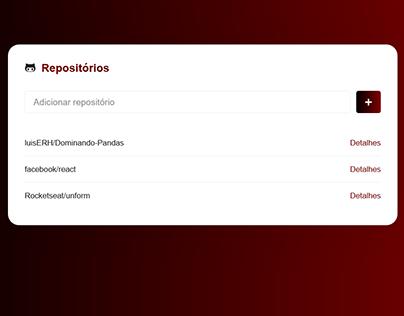 Criando uma interface para api do GitHub