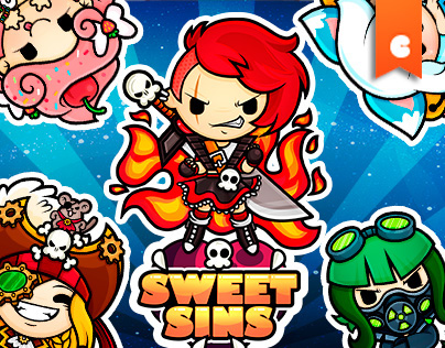 Kawaii Character Design for Sweet Sins Game App