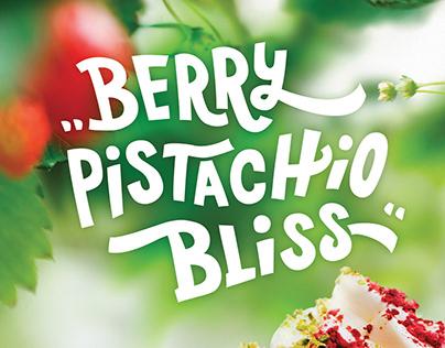 Berry Pistachio coffee poster