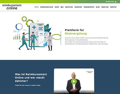 Reimbursement Online.ch - Website Design