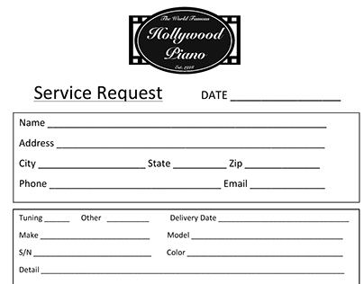 Office Forms - Hollywood Piano...