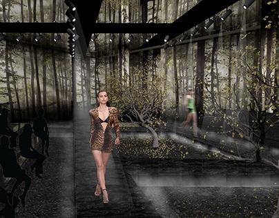 SET DESIGN   Versace Fashion Show