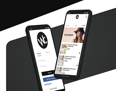 WomCloth appdesign By Utkarsh Bhatt UKB