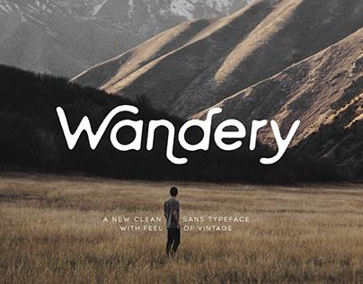 Wandery Modern x Vintage Typeface