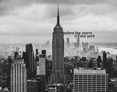 before the storm · in new york