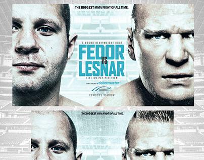 Fedor vs Lesnar Poster