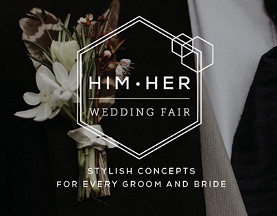 HimHer Wedding Fair Branding Design