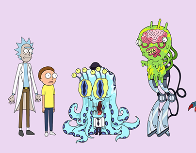 Rick And Morty - Character Designs
