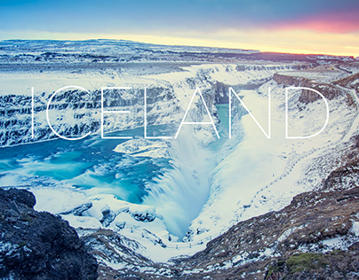 Gullfoss - Awesome waterfall in the winter time 2020