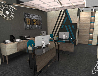 Interior and furniture design for office