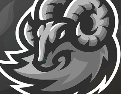 Derby Esports (c) Ram Mascot Logo Design