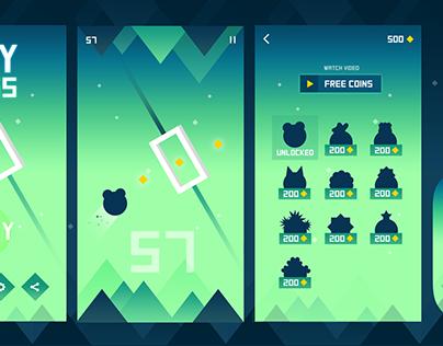 Flat iPhone Game Design.