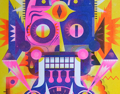 SATANIC-ROBOT-ZOMBI - RISO print