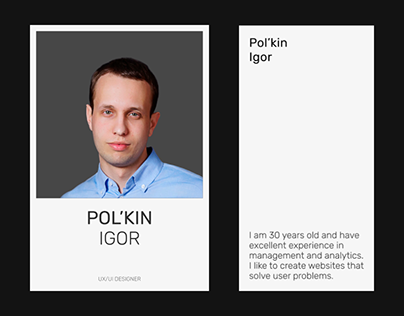 Pol'kin Igor — Portfolio 2020