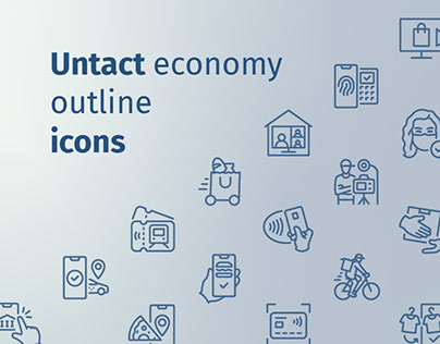 Untact outline iconset