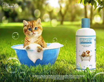 pure shampoo package for medical product for cat & dog