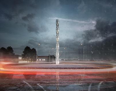 YAC competition, Lamborgini road monument