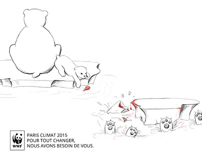 Print ads Global warming. WWF - COP 21
