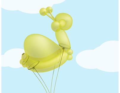 Hot Air Balloon Animals