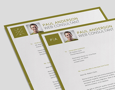 DOA Clean 3-Part Resume / Business Card