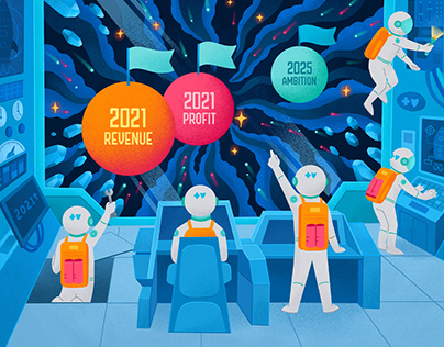 """GeoBlue Annual Poster (""""Forging Onward"""" 2021)"""