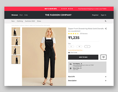E- commerce Product Page