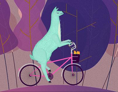 Short animation: Llama