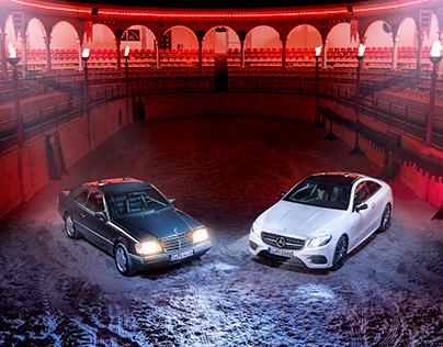 Respect your elders. The Mercedes-Benz E320 and E400.