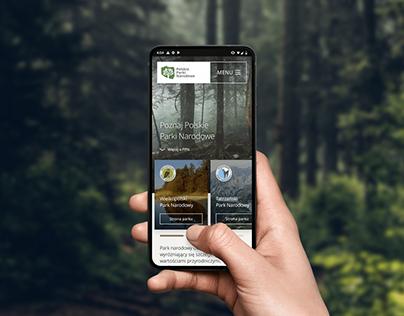 Polish National Parks - new website concept
