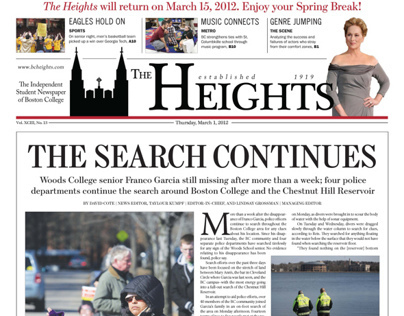 """""""The Heights"""" Newspaper Front Pages as Layout Editor"""