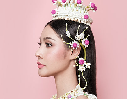 Angel of flower - Thai national costume